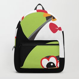 Cute Penguin With Heart Glasses And Bow For Kids Backpack