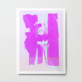 Abstract variations of pink 03 Metal Print