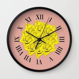 Yellow Rose's Cl;ock Wall Clock