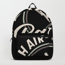 Hair-Riffic Barber - Hairdresser Saying Design Backpack