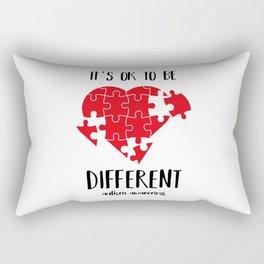 It's ok to be different. Autism awareness, Autism, autism boy, autist Rectangular Pillow