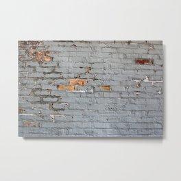 Brick Wall Texture Metal Print
