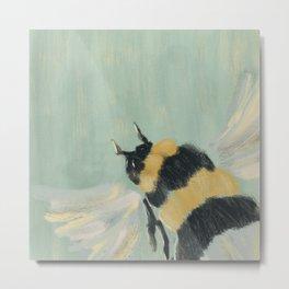 Little Busy Bee Metal Print
