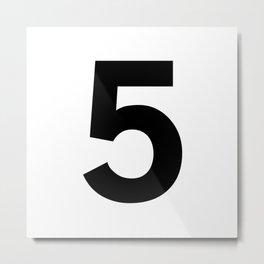 Number 5 (Black & White) Metal Print
