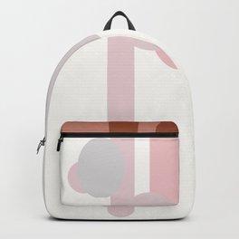 Abstract Geometrics Nude Backpack
