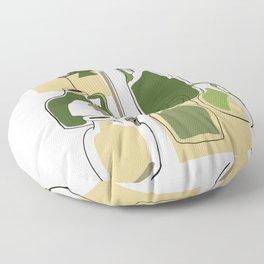 Green bottles Floor Pillow