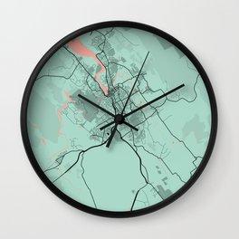 Launceston - Australia Peony City Map Wall Clock