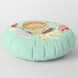 Burger Mandala Floor Pillow