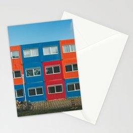 Colorful Container house Amsterdam Stationery Cards