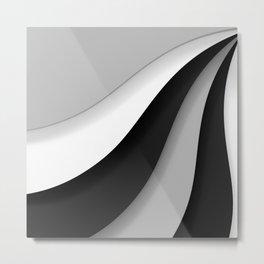 Simple Swoops Metal Print