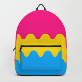 Wavy Pansexual Flag Backpack