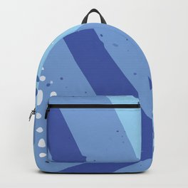 Abstract Modern Contemporary Monochromatic Background in Blue Color GC-118-4 Backpack
