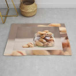 Brazil nuts from Bertholletia excelsa Rug