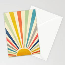 Sun Retro Art III Stationery Cards