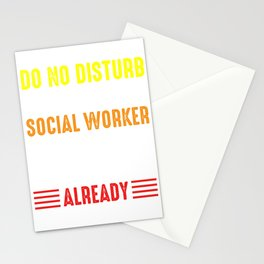 Do Not Disturb Social Worker Liberal Gift Stationery Cards