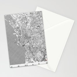 Manila Map Line Stationery Cards
