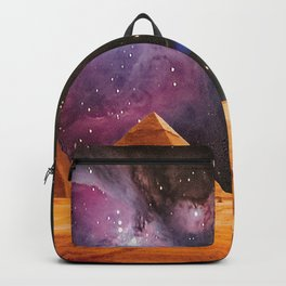 Egyptian Pyramids Giza Meets Space and UFO Backpack
