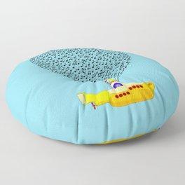 Musical Yellow Submarine Floor Pillow