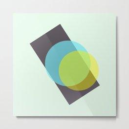 yellow n blue circles 003 Metal Print