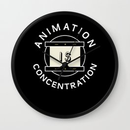 Animation is concentration Disk Wall Clock