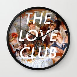 Luncheon with the Love Club Wall Clock