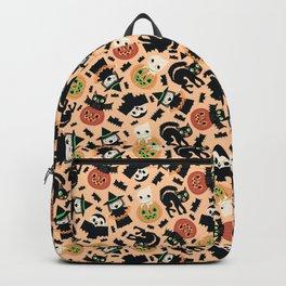 Halloween Gang Pale Orange Backpack