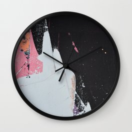 Profoundly [2]: a vibrant abstract piece in blues magenta and orange by Alyssa Hamilton Art Wall Clock