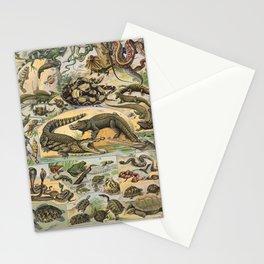 Adolphe Millot - Nouveau Larousse Illustré - Reptiles (1906) Stationery Cards