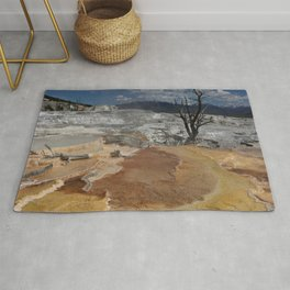 A Surreal Landcape With Dead Tree Rug