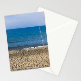 Fishpoles on Beach Stationery Cards