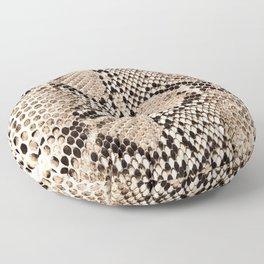 Snake skin art print Floor Pillow