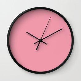Mauvelous Solid Color Block Wall Clock