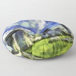 Stonehenge Vincent Van Gogh Floor Pillow
