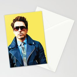 Robert Downey Jr - Low Poly Vector Art Stationery Cards