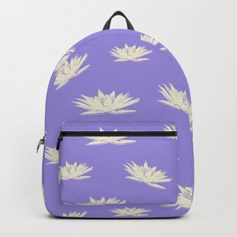 Lotus Flowers - Violet and Cream Backpack