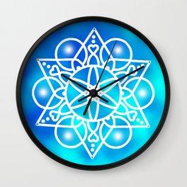 Cloud mandala Wall Clock