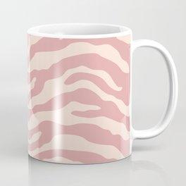 Zebra Wild Animal Print Dusty Rose and Beige Coffee Mug