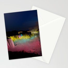 Niagara Falls Illumination Green Stationery Cards