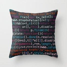 Computer Science Code Throw Pillow