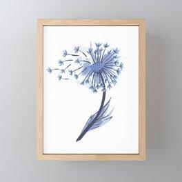Pusteblume mit Blueten Framed Mini Art Print