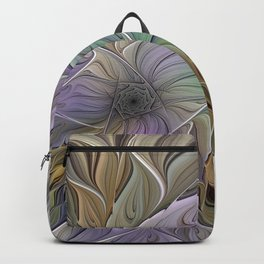 Abstract Flower, Colorful Floral Fractal Art Backpack