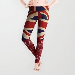Union Jack Great Britain Flag Leggings