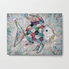 Rainbow Fish Collage Metal Print