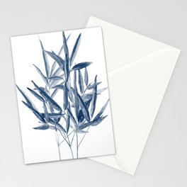 Bamboo watercolor painting Stationery Cards
