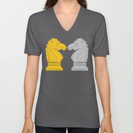Gold and Silver Knights Unisex V-Neck