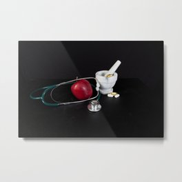 Healthy eating and lifestyle Metal Print