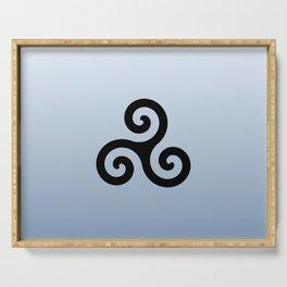 Triskele 6 -triskelion,triquètre,triscèle,spiral,celtic,Trisquelión,rotational Serving Tray
