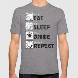 Eat Sleep Anime T-shirt