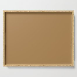 Dusty Earth Mid Tone Brown Solid Color Pairs To Sherwin Williams Chamois SW 6131 Serving Tray