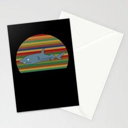 Shark Funny Sharks Sea Ozean Cool Shark Fish Gift Stationery Cards